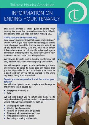 Ending your Tenancy Page