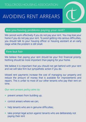 Avoiding Rent Arrears Page